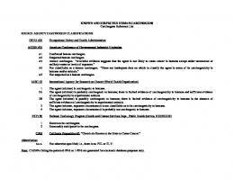 Carcinogens Reference List
