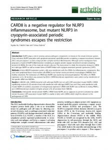 CARD8 is a negative regulator for NLRP3 inflammasome ... - CiteSeerX