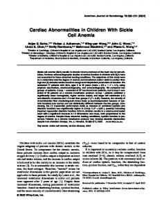 Cardiac abnormalities in children with sickle cell ... - Wiley Online Library