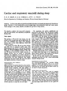 Cardiac and respiratory standstill during sleep - Europe PMC