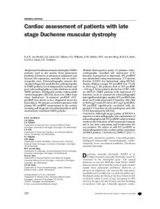 Cardiac assessment of patients with late stage ... - Springer Link
