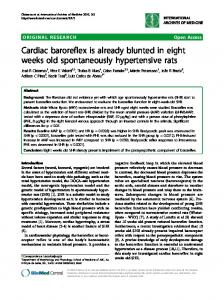Cardiac baroreflex is already blunted in eight weeks ... - BioMedSearch