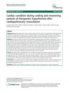 Cardiac condition during cooling and rewarming ... - BioMedSearch