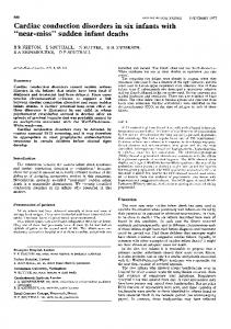 Cardiac conduction disorders in six infants with