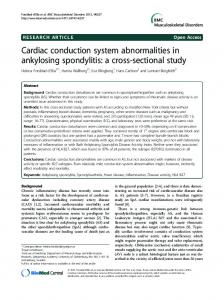 Cardiac conduction system abnormalities in ankylosing spondylitis: a ...