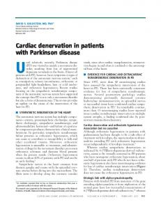 Cardiac denervation in patients with Parkinson disease