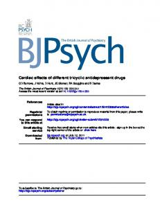 Cardiac effects of different tricyclic antidepressant drugs