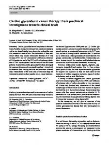 Cardiac glycosides in cancer therapy - Springer Link