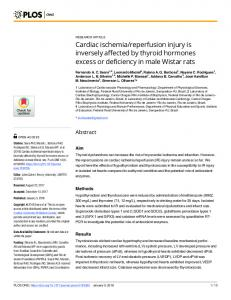Cardiac ischemia/reperfusion injury is inversely affected by ... - PLOS