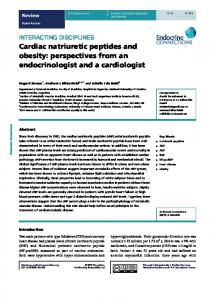 Cardiac natriuretic peptides and obesity - Endocrine Connections