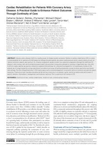 Cardiac Rehabilitation for Patients With Coronary ... - SAGE Journals