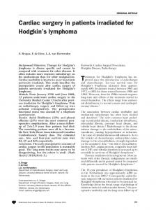 cardiac surgery in patients irradiated for hodgkin's ... - Springer Link