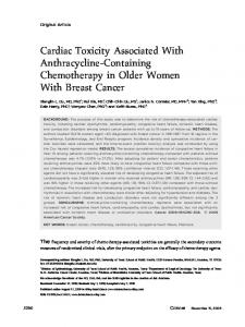 Cardiac toxicity associated with ... - Wiley Online Library