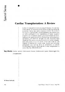 Cardiac Transplantation: A Review