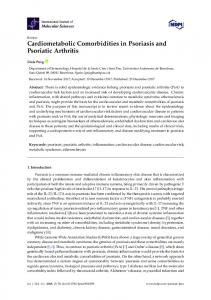 Cardiometabolic Comorbidities in Psoriasis and Psoriatic Arthritis - MDPI