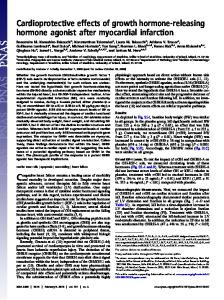 Cardioprotective effects of growth hormone-releasing ... - PNAS