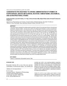cardioprotective response to chronic administration of ... - MedIND