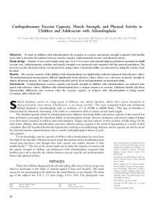 Cardiopulmonary Exercise Capacity, Muscle Strength, and Physical ...
