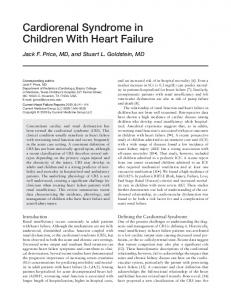 Cardiorenal Syndrome in Children With Heart Failure - Springer Link