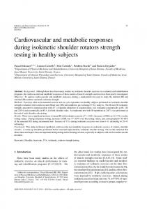 Cardiovascular and metabolic responses during isokinetic ... - IOS Press