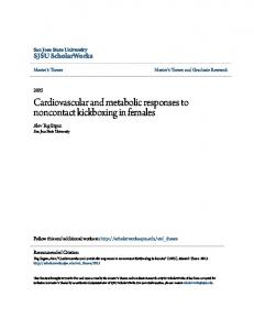 Cardiovascular and metabolic responses to ... - SJSU ScholarWorks