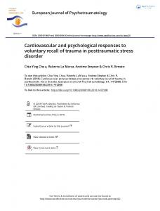 Cardiovascular and psychological responses to ...