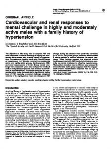 Cardiovascular and renal responses to mental challenge in highly and ...