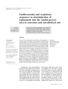 Cardiovascular and respiratory responses to microinjection of L