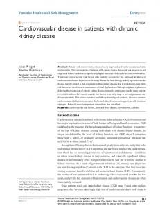 Cardiovascular disease in patients with chronic kidney disease