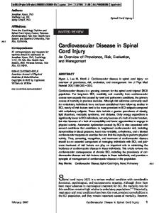 Cardiovascular Disease in Spinal Cord Injury - Semantic Scholar