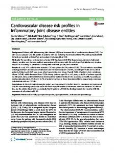 Cardiovascular disease risk profiles in