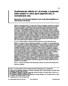 Cardiovascular effects of 1, 8-cineole, a terpenoid oxide present in ...