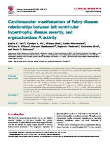 Cardiovascular manifestations of Fabry disease: relationships ...