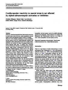 Cardiovascular reactivity to mental stress is not affected by alpha2