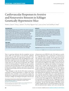 Cardiovascular Responses to Aversive and Nonaversive Stressors in