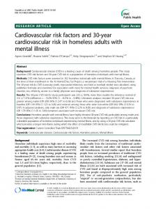 Cardiovascular risk factors and 30-year cardiovascular risk ... - TSpace