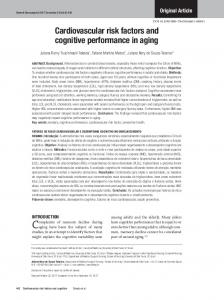 Cardiovascular risk factors and cognitive