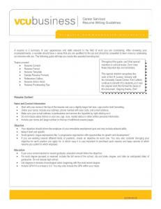career services resume writing guidelines