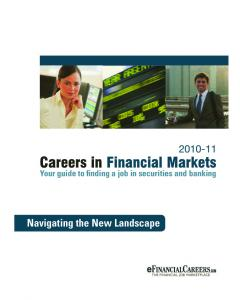Careers in Financial Markets (PDF) - Dice.com