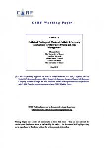 CARF Working Paper - CiteSeerX
