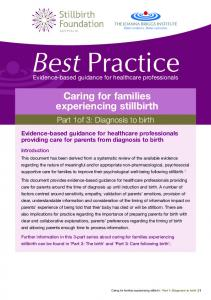 Caring for families experiencing stillbirth - Ranzcog