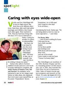 Caring with eyes wide-open