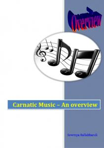 Carnatic Music – An overview