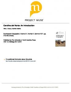 Carolina del Norte: An Introduction