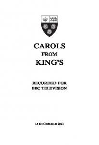 Carols from King's service booklet - King's College