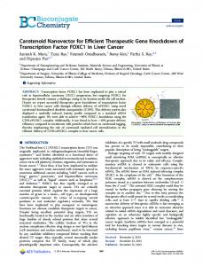 Carotenoid Nanovector for Efficient Therapeutic ... - ACS Publications