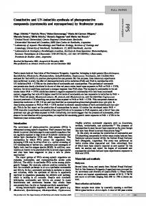 (carotenoids and mycosporines) by freshwater ... - Semantic Scholar