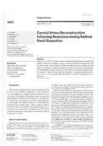 Carotid Artery Reconstruction following Resection du ...