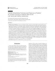 Carotid Intima-Media Thickness and Plaque as a ... - KoreaMed Synapse