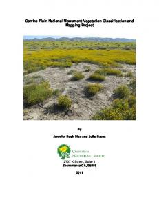 Carrizo Plain National Monument Vegetation Classification and ...